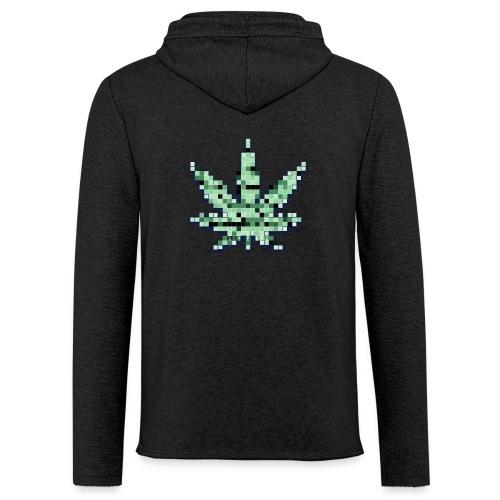 RETRO Pixelated Cannabis - Light Unisex Sweatshirt Hoodie