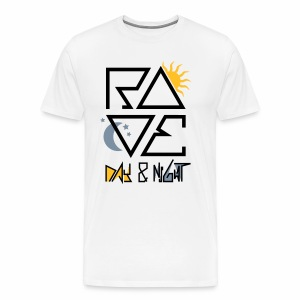 RAVE Day & Night V2 - T-Shirt - Männer Premium T-Shirt