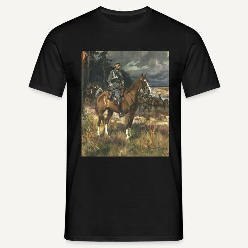Piłsudski na kasztance - koszulka kolorowa - Koszulka męska