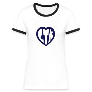 CTKoeur Femme - T-shirt contrasté Femme