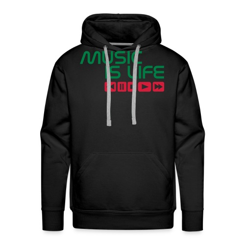 Music is life - Mannen Premium hoodie