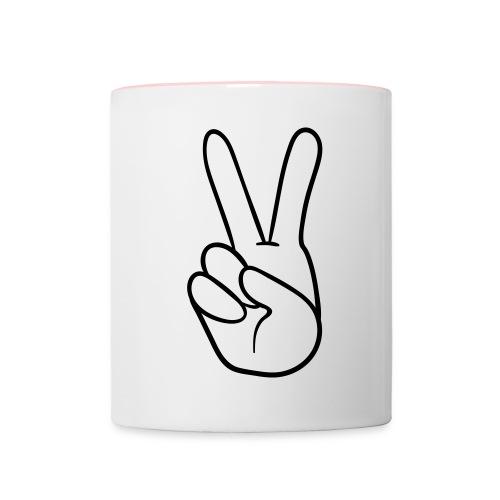 Contrasting Mug - Peace logo - Contrasting Mug