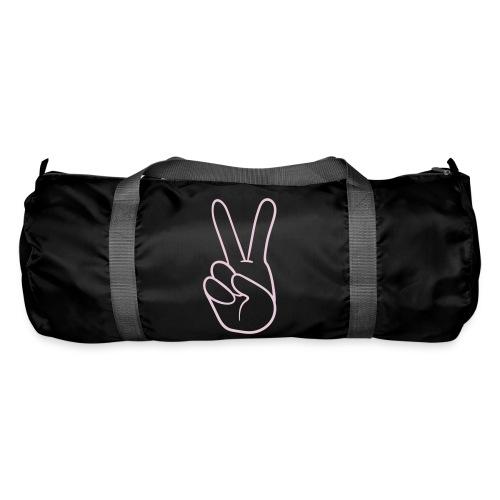Duffle bag - pink peace logo - Duffel Bag