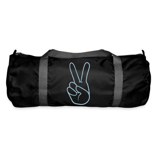 Duffle bag - blue peace logo - Duffel Bag