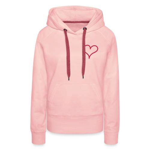 LOVE HEART - Women's Premium Hoodie