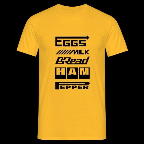 Sponsoren Einkaufsliste - schwarzer Druck - Männer T-Shirt
