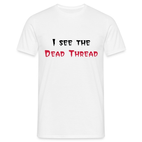 Dead Thread (black and red) - Men's T-Shirt