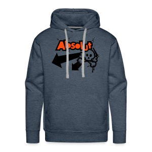 'Absolut' hooded sweatshirt (neon orange/black print) - Men's Premium Hoodie