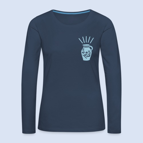 FRANKFURT DESIGN - Heiliger Gral #Bembel - Frauen Premium Langarmshirt