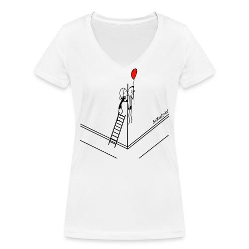kissNstyle - banksystyle - Frauen Bio-T-Shirt mit V-Ausschnitt von Stanley & Stella