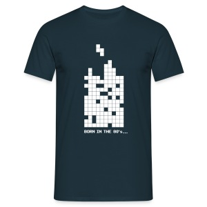 Born in the 80s - Tetrisblocks - Men's T-Shirt
