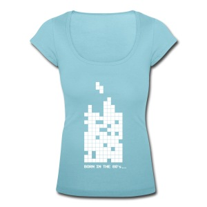 Born in the 80s - Tetrisblocks - Women's Scoop Neck T-Shirt