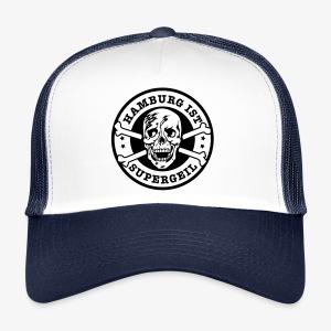 Hamburg ist supergeil Totenkopf Skull Trucker Cap - Trucker Cap
