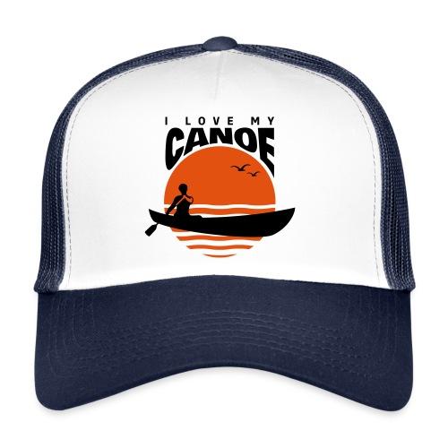 I love my canoe Kanu paddeln Wassersport Sonne Caps & Mützen - Trucker Cap