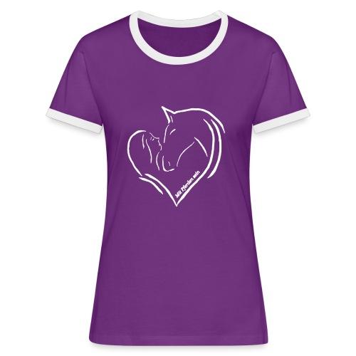 MPS Heart , Women Kontrast T-Shirt ( Print: Digital White) - Frauen Kontrast-T-Shirt