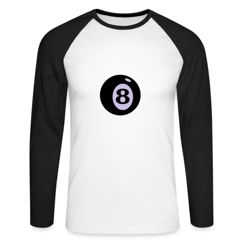 8-ball - Men's Long Sleeve Baseball T-Shirt