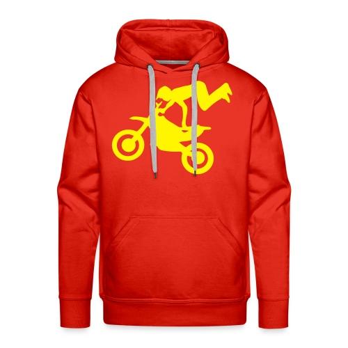 Bluza kapur czerwona - Bluza męska Premium z kapturem