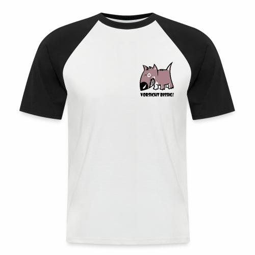 Vorsicht bissig - Männer Baseball-T-Shirt
