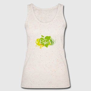 Vegan Herz Graffiti Tops - Frauen Bio Tank Top