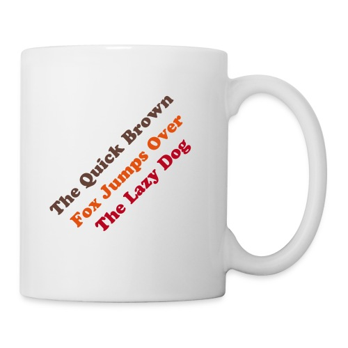 The quick brown fox - Mug