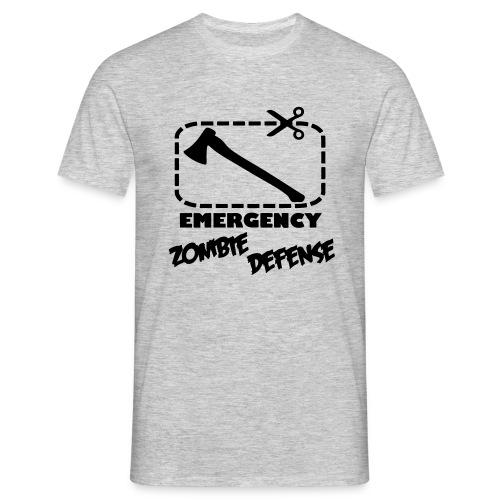 Defensa para emergencias Zombies - Camiseta hombre
