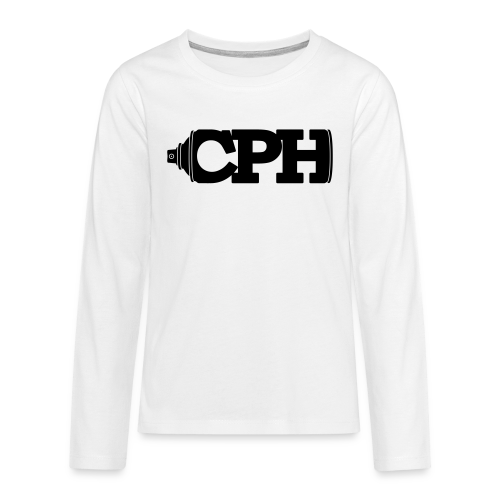 CPH Can, Teen, White - Teenager premium T-shirt med lange ærmer
