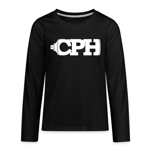 CPH Can, Teen, Black - Teenager premium T-shirt med lange ærmer