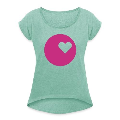 LOGO HEART T-Shirt Frauen - Frauen T-Shirt mit gerollten Ärmeln