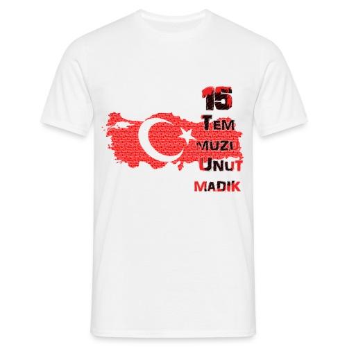 15 Temmuz Yetiskin Erkek T-Shirt - Männer T-Shirt