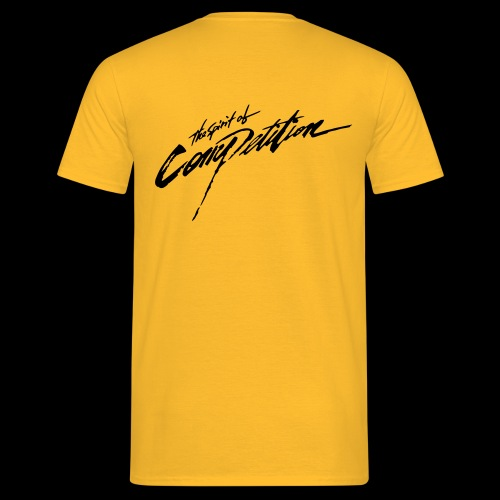 Spirit of Competition - schwarzer Druck, Hinten - Männer T-Shirt
