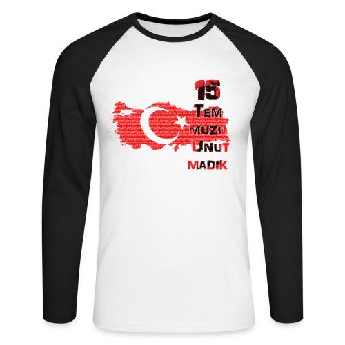 15 Temmuz Erkek Uzunkol - Männer Baseballshirt langarm