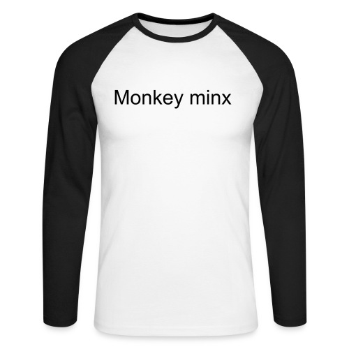 Monkey minx front logo only - Men's Long Sleeve Baseball T-Shirt