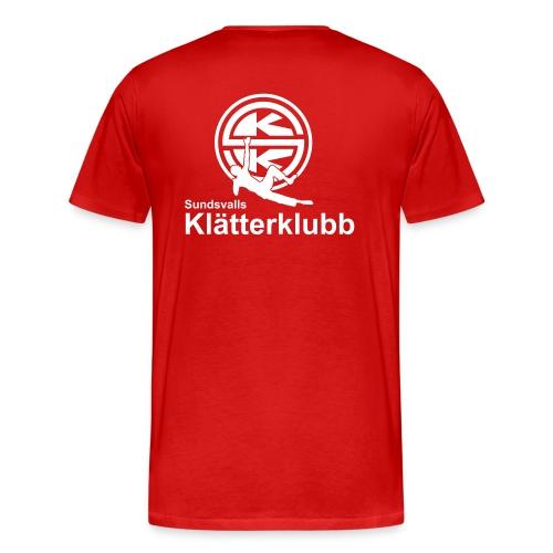 T-shirt rygg herr - Premium-T-shirt herr