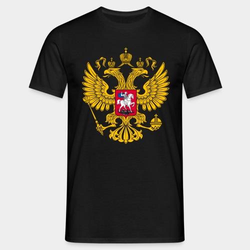 T-Shirt mit Rußland Wappen - Männer T-Shirt