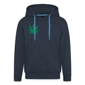 Canabis Hooded Jacket - Men's Premium Hooded Jacket