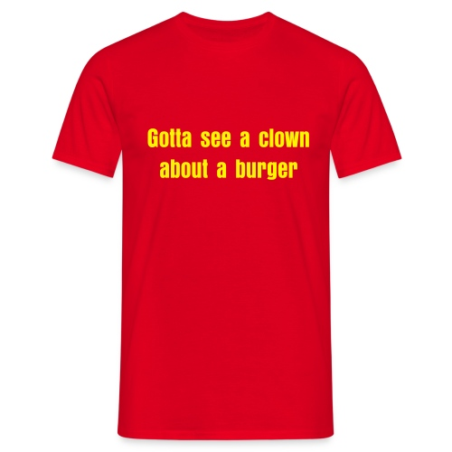 Clown burger - Men's T-Shirt