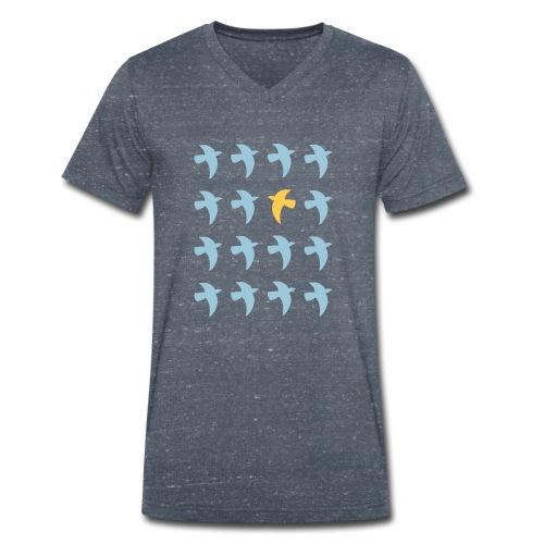 Bio Fair-T-Shirt mit Tauben (V-Ausschnitt) - Männer Bio-T-Shirt mit V-Ausschnitt von Stanley & Stella