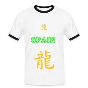 Spain Big 2 Small  - Men's Ringer Shirt