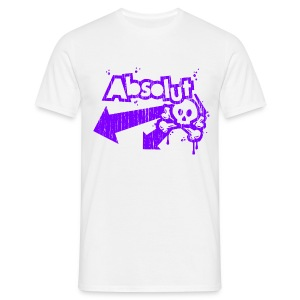 'Absolut' tee (distressed purple/white print) - Men's T-Shirt