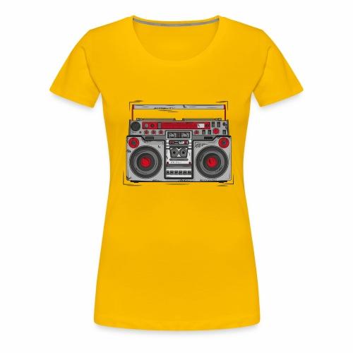 T-Shirt Ghettoblaster - Frauen Premium T-Shirt