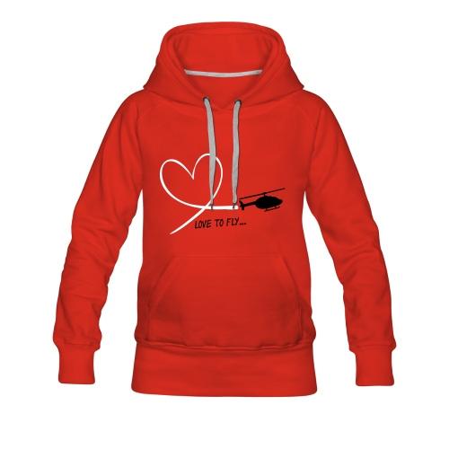 Love to fly - Frauen Premium Hoodie
