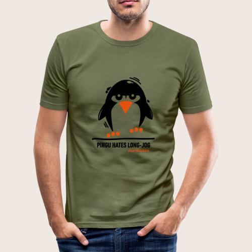 Runtasia Pingu - Männer Slim Fit T-Shirt
