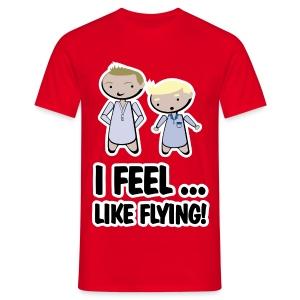 Camiseta How I met your mother, Barney Stinson feel like flying - chico manga corta - Camiseta hombre