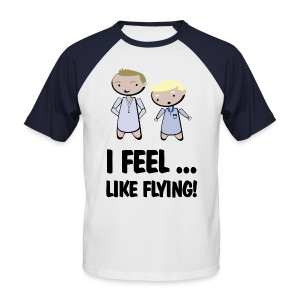 Camiseta barney stinson how i met feel like flying - Camiseta béisbol manga corta hombre