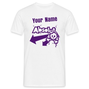 Personalised 'Absolut' tee (purple print) - Men's T-Shirt