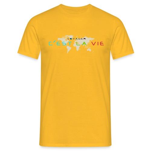 T-shirt Homme - T-shirt – Voyager c'est la vie  – www.leboncoindutshirt.com