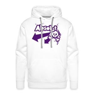 Personalised 'Absolut' hooded sweatshirt (purple print) - Men's Premium Hoodie
