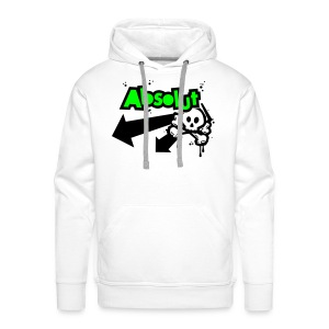 Personalised 'Absolut' hooded sweatshirt (neon green/black print) - Men's Premium Hoodie