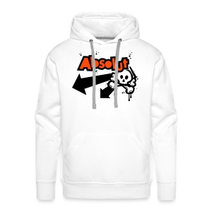 Personalised 'Absolut' hooded sweatshirt (neon orange/black print) - Men's Premium Hoodie