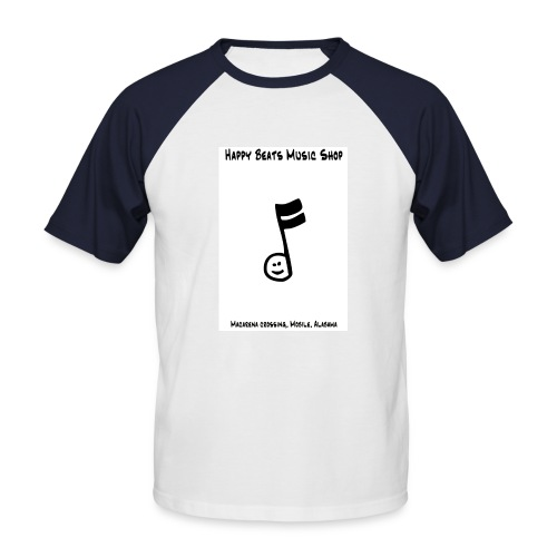 Happy Beats - Men's Baseball T-Shirt
